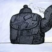 Philip Guston, Untitled (Kettle), 1980, Acryl auf Karton, 510 x 760 mm, Privatsammlung  Foto: David McKee Gallery, New York © The Estate of Philip Guston, New York