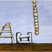 Philip Guston, Untitled, 1980, Acryl und Tusche auf Karton, 505 x 760 mm, The Museum of Modern Art, New York, Gift of Musa Guston, 1989, Inv.-Nr. 318.1989  Foto: David McKee Gallery, New York © The Estate of Philip Guston, New York