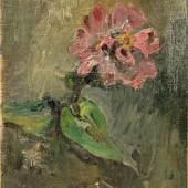 """LUCKNER, HEINRICH GRAF V. ATTR. (1891-1970): Blumenstudie. Beschreibung Öl/Malkarton (Altersschäden) auf Pappe montiert, rücks. Stempel """"Nachlass"""", numm. """"28"""", 29,5x17,5 cm, ungerahmt  Aufrufpreis: 720,00 €"""