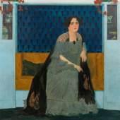 1216 Leopold Blauensteiner Bildnis der Frau F. B. Schätzpreis € 80.000 - 160.000  Meistbot € 110.000