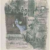 Édouard Vuillard, Probedruck zum Titelblatt zu: »Paysages et Intérieurs«, um 1899, Lithographie, 587 × 463 mm (Blattmaß)  © Staatliche Graphische Sammlung München