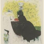 Édouard Vuillard, Les deux belles-soeurs, aus: Paysages et intérieurs, um 1899, Lithographie, 386 x 315 mm (Blattmaß)  © Staatliche Graphische Sammlung München
