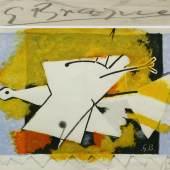 Georges Braque (1882-1963), L'Oiseau Jaune, Farblithographie, num. 120/300, Zuschlag inkl. Aufgeld 900 €