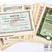 Bayern - Sammlung von 31 Wertpapieren  alle vor 1945 ausgegeben, dabei gesuchte Ausgaben     Aufrufnummer: 705 Aufrufpreis: 960 Euro