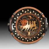 """Apulische Knopfhenkelschale (Lekane) des Unterwelt-Malers. 330 - 320 v. Chr. (""""late style"""").  Aufrufpreis:20.000 EUR"""