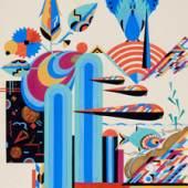 Lot 751:Art-déco-Ornamentik des Plauener Künstlers Paul Siegel
