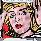Lichtenstein, Roy. Vicki! I--I thought I heard your voice! Farboffsetlithographie von 1968. Signiert. 59 x 39 cm. Unter farblich passendem Passepartout gerahmt. 2000,-