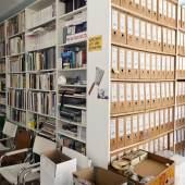 AAP Archiv Künstlerpublikationen Raumansicht, 2018 Foto: Wilfried Petzi