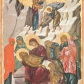Kreuzabnahme und Beweinung Christi, um 1500, Kreta, 60x40 cm