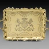 An important George IV tray silver-gilt London, 1823, maker's mark of  Philip Rundell W. 80 cm Koopman Rare Art, London