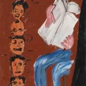 Walter Dahn (*1954): Die Mülheimer Freiheit (Zeitungsleser), 1981, Kunstharzfarbe auf Nessel, 180,5 x 130 cm Seit 2008 Sammlung Michael und Eleonore Stoffel in den Bayerischen Staatsgemäldesammlungen  © Walter Dahn / Courtesy Sprüth Magers