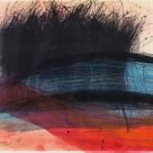 Arnulf Rainer* (Baden 1929 geb.) Schleife, 1996 übermalte Druckgraphik; gerahmt; 29,5 x 41,7 cm  Schätzpreis € 8.000 - 12.000