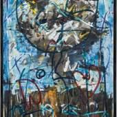 Hans Staudacher* (St. Urban 1923 geb.) o.T., 1989 Öl auf Leinwand; gerahmt; 100 x 50 cm  0951 Hans Staudacher* o.T. Schätzpreis € 8.000 - 14.000