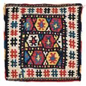 """Shahsavan Kilim Baby Bag 22 x 22 cm (9"""" x 9"""") Azerbaijan, ca. 1900"""
