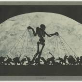 Melchior Grossek, Kampf, 1923 Reproduktion nach Scherenschnitt 24,1 x 32,1 cm (Trägerblatt), 19,6 x 29,1 cm (Blatt = Darstellung max.) Abbildung: © LETTER Stiftung, Köln