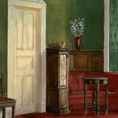 Atelier Gust. Dorén, Bemalung und Einrichtung für ein Wohnzimmer, 1904, Gouache, Foto: © Peter Nils Dorén (Detail)