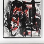 Emilio Vedova, Rosso '84, 1984 Water paint, sand and pastel colour on canvas. 235 x 235cm © Emilio Vedova.