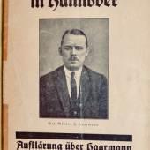 Kütemeyer, Wilhelm. Aufklärung über Haarmann, den furchtbarsten Mörder des Jahrhunderts. 1924. 750,- (Gerber, Basel)