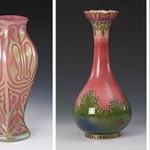 Teppich um 1900/10   Vase Kralik   Vase KPM Berlin   Art-Déco-Silberdose
