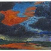 822 EMIL NOLDE Herbstwolken, Friesland, 1929. Öl auf Leinwand Schätzung: € 1.200.000 Ergebnis: € 1.687.500