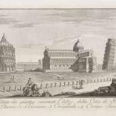 Ferdinando Fambrini, Zwölf Ansichten von Pisa. 1788. 3.000 - 4.000 €