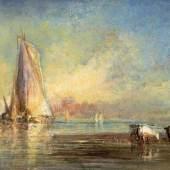 Félix Ziem  Segler auf dem Bosporus vor Istanbul | Öl auf Leinwand | 54 x 80cm  Schätzpreis: 100.000 – 120.000 Euro