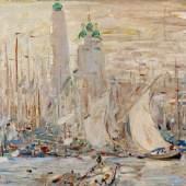 Robert Hermann Sterl  Hafen von Astrachan | Öl auf Leinwand  48 x 53,5cm  Schätzpreis: 20.000 – 25.000 Euro