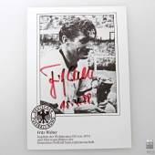 Autographen - Fritz Walter, 1920-2002  Fußball-Legende, datiert 15.4.88      Aufrufnummer: 50 Aufrufpreis: ohne Limit