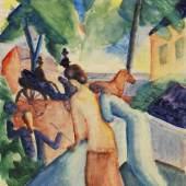 857 AUGUST MACKE Begrüssung (Thunersee), 1913. Aquarell Schätzung: € 350.000 Ergebnis: € 937.500
