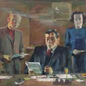 115  Bernhard Kretzschmar, Im Sekretariat von Otto Buchwitz. Wohl um 1971/1972. 113,5 x 150 cm.2.500 €