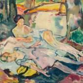 Leo Putz Siesta am Waldsee, 1925 Schätzpreis: 25.000 – 50.000 €