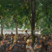 Max Liebermann (1847 – 1935) Gartenlokal   1920 – 22   Öl auf Leinwand   54,5 x 75cm Ergebnis: 678.500 Euro