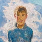 Alfons Walde* Knabe im Winter, um 1923 Öl auf Leinwand 60 x 54 cm 100 000 – 200 000 €