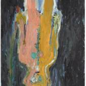 Georg Baselitz, Der Bote, 1984 Oil on canvas. 250 x 200 x 4cm © Georg Baselitz.