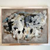 Hugo Weber (1918-1971) Ohne Titel, 1957 Mischtechnik auf Pavatex, 48,5 x 64 cm
