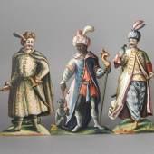 Krippenfiguren einer Papierkrippe, 1. Drittel 19. Jh., Georg (1772-1838) und Felix Haller (1808-1883) Götzens/Terfens  © Gerhard Watzek