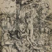 Lucas Cranach d. Ä., Adam und Eva, 1509, 33,7 x 23 cm, Holzschnitt Museum Bautzen, Gersdorff-Stiftung, SBD Copyright: Museum Bautzen, Gersdorff-Stiftung, SBD