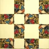 Rodney Graham, City Self/Country Self (wallpaper), 2001, neunfarbiger handgemachter Siebdruck auf Papierbahn, Courtesy Sammlung Goetz, München