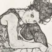 """EGON SCHIELE, SIGNIERTE MAPPE """"ZEICHNUNGEN"""", 1917 Verkauft für 24.000 € (inkl. Käuferaufgeld)"""