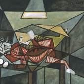 Pablo Picasso (1881–1973) Nature morte (Stillleben/Still Life), 1942  Öl auf Leinwand 89 x 116 cm Sammlung Würth, Inv. 9222 © 2016 Succession Picasso/VG Bild-Kunst, Bonn für die Werke von Pablo Picasso