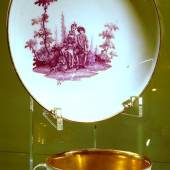 2-teilige Prunkkaffeetasse,Höhe 4,5cm,Königlich Meissen um 1740,Maler Chr.Friedrich Herold (1700-1779)
