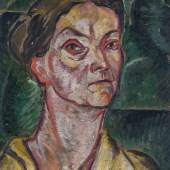 171 - Carry Hauser  Damenporträt. Öl auf dickem Karton. Links unten monogrammiert. Gerahmt. 45 x 34 cm  1895 Wien - 1985 Rekawinkel/Oberösterreich  Katalogpreis: 5.500 - 7.500 €