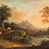 Romantische Rheinlandschaft von Christian Georg Schütz I (Abb. 93912/Limit 7.500 €)