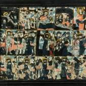 867 - SELTENES HINTERGLASBILD MIT DEN KREUZWEGSTATIONEN Auktion: 239 - Kunst & Antiquitäten Bayerischer Wald, Raimundsreut, Mitte 18. Jh. Katalogpreis: 4.000 - 4.500 €