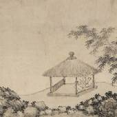 $2,170,000 (£1,640,832) $1,800,000 - 2,500,000 American Private Shen Zhou, Enjoying The Mid-Autumn Moon In The Bamboo Villa, ink on paper, handscroll