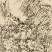 $2,110,000 (£1,595,463) $350,000 - 550,000 Asian Private Wang Yuanqi, Landscape Of Yushan, ink on paper, hanging scroll
