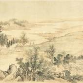 $1,090,000 (£824,197) $50,000 - 70,000 Wang Gai, An Estate By The City Of Qi, ink and color on silk, handscroll RECORD FOR ARTIST AT AUCTION