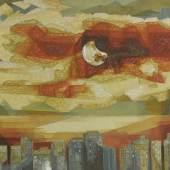 Jehangir Sabavala The City-II 1999 Oil on canvas 45 x 59 7/8 in. (114.5 x 152.5 cm.) Estimate $250/300,000