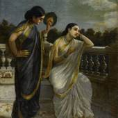 Property from a Private American Collection Raja Ravi Varma Untitled (Damayanti) Oil on canvas 28 ¾ x 20 ¾ in. (73 x 52.7 cm.) Estimate $500/700,000