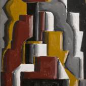 Lot 18 Joaquín Torres-García Formas Abstractas Ensambladas (Assembled Abstract Forms) signed lower left; also inscribed AAÇ lower right tempera on cardboard 39 3/4 by 31 1/2 in. Painted in 1937 Estimate $800,000/1.2million © 2017 Artists Rights Society (ARS), New York / VEGAP, Madrid Image courtesy of the Estate of Joaquín Torres-García